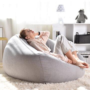 Solid Color Cotton Bean Bag Chair Lazy Sofa