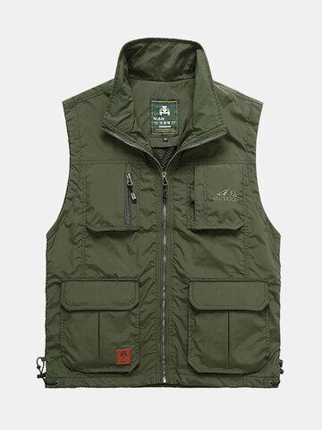 Loose Multi Pockets Vest