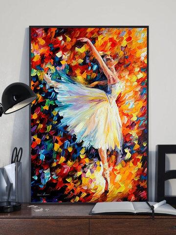 الرقص فتاة نمط قماش اللوحة غير المؤطرة جدار الفن قماش غرفة المعيشة ديكور المنزل