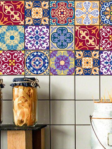 1 Pc épaisse encre couleur autocollant mural décoration de la maison auto-adhésif étanche bricolage Stickers muraux autocollants de sol