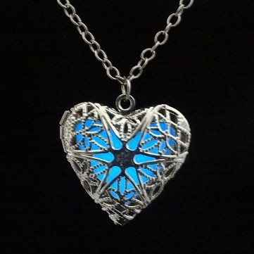 Luminous Locket Heart Pendant Necklace
