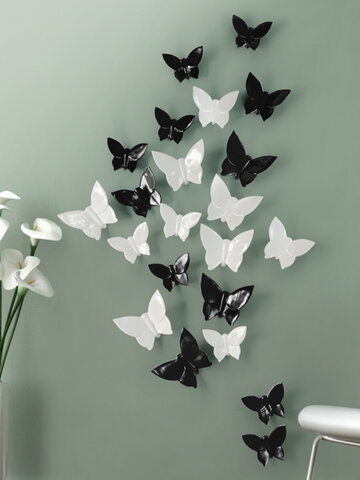 4 Colors 3D Resin Butterfly for Wall Poster HOME Decoration TV Back ground Wall Decoration Resin Artware Stickers