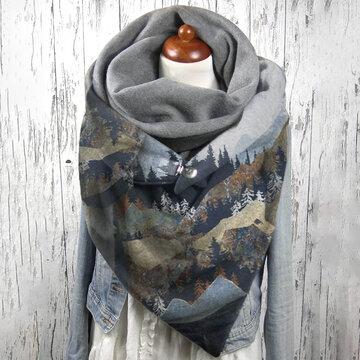 Écharpe Soft à motif imprimé Mountain Treetop