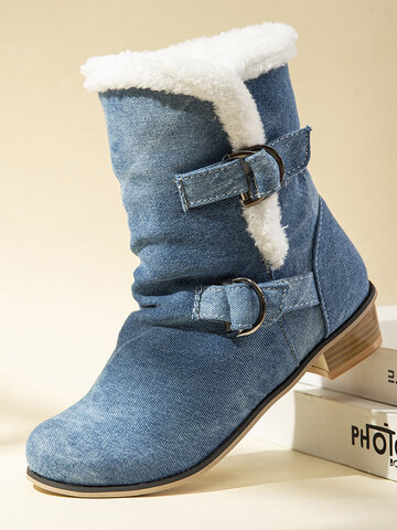 Warm Fur Lining Winter Boots