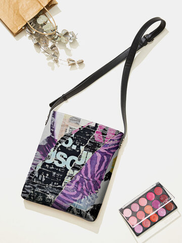 Purple Graffiti Crossbody Bag