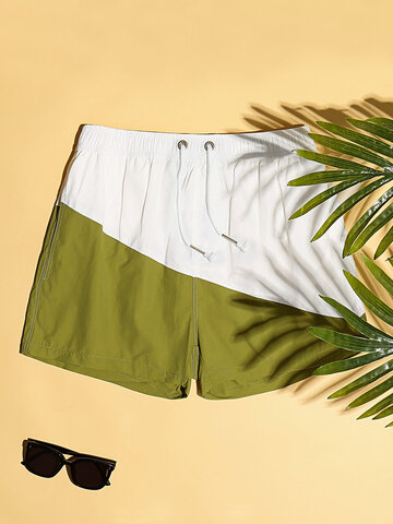Lightweight Colorblock Shorts with Lining
