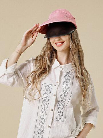COLLROWN Sun Hat Double Pare-Soleil Amovible Face Face