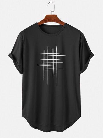 T-Shirts Graphiques Ligne Haut Bas