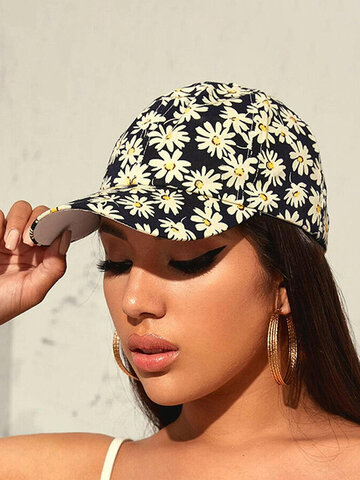 Daisy Pattern Hallow Out Casual Baseball Hat