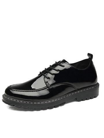 أحذية رجال الأعمال عارضة جلد براءات الاختراع