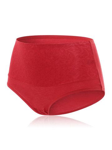 Plus Size Cotton High Waist Panties