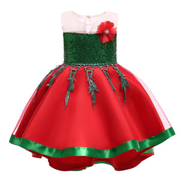 Flower Girls Christmas Dress For 2Y-9Y