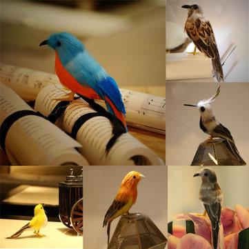 Pequeno Pássaro Artificial Em Penas Em Penas Realista Jardim Casa Simulação Decoração Ornamento 12 cm