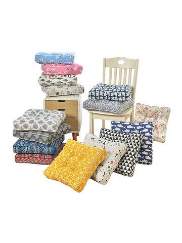 Washable Thicken Cotton Linen Seat Cushion