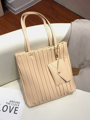 Chain Tote Ruched Bag