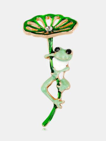Wild Cartoon Frog Brooch