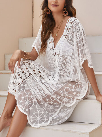 White See Through Cover Up