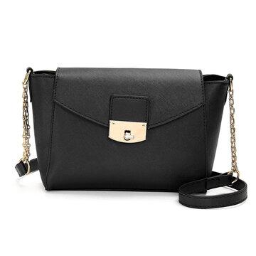 Women Elegant Handbag Shoulder Bag PU Leather Messenger Spin Lock Satchel Purse Tote
