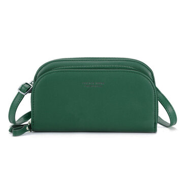 Women PU Leather Solid Phone Bags Crossbody Bags