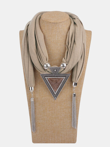 Triangle Resin Scarf Necklace