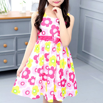 Flower Girls Casual Dress Pour 6-15ans