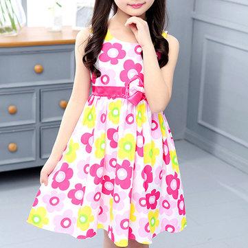 Blumenmädchen Lässig Kleid Für 6-15Jahre