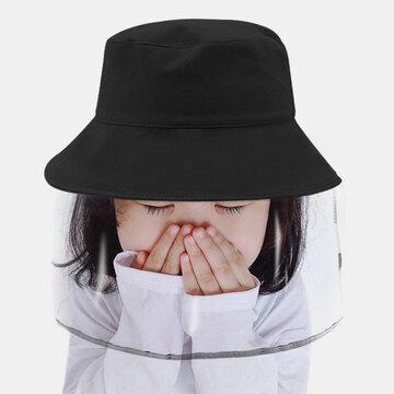 Tela de rosto destacável anti-UV para crianças Sun Chapéu