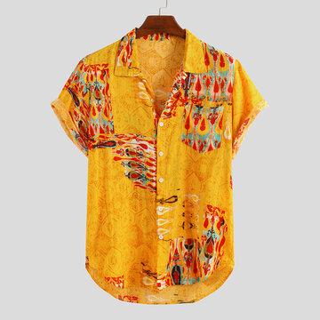 Мужские летние рубашки с этническим принтом