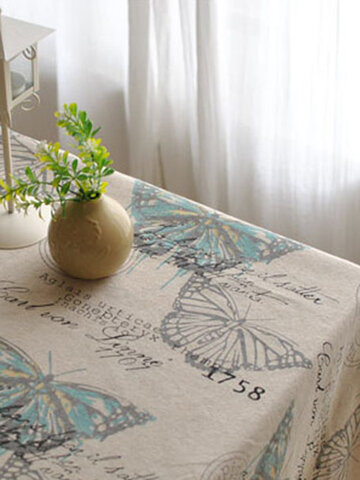 American Style Cotton Linen Tableware Mat Tablerunner Tablecloth Desk Cover Heat Insulation Bowl Pad