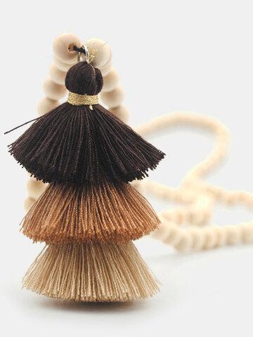 Three-layer Tassel Necklace