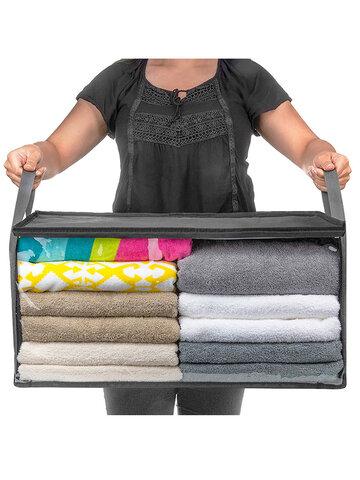 Non-Woven Storage Box Quilt Foldable Storage Bag Closet Clothing Storage Box Dust-Proof Moisture-Proof