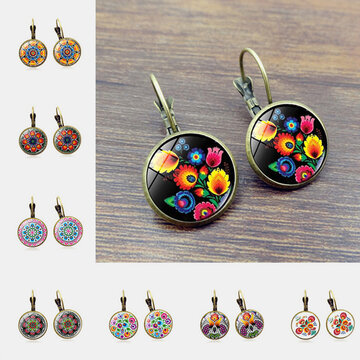 Polish Folk Art Patterns Earrings