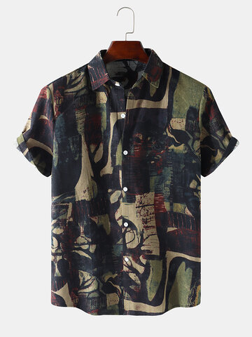 Abstract Geo Print Vintage Shirts
