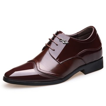 Men Cap Toe Hidden Heel Dress Shoes