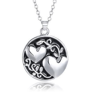 Trendy Silver Heart Necklace