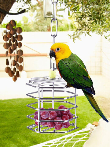 Stainless Steel Pet Bird Parrot Foraging Cage