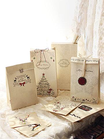 8Pcs क्राफ्ट पेपर क्रिसमस वेडिंग बैग