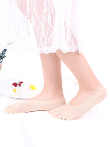 Women Sock Ultra-thin Mesh Hole Five Toe Sock