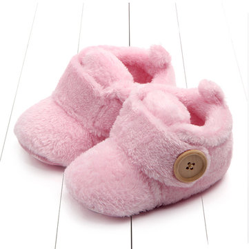 Warm Thick Fleece Baby Boots For 6-24 Months