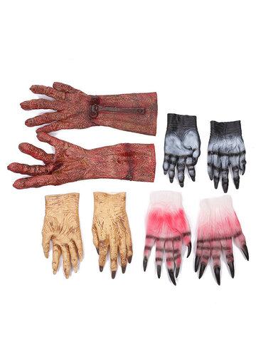 هالوين دم قفاز اللاتكس