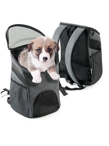 Pet Carrier Premium Travel Outdoor Mesh Backpack Carry Bag
