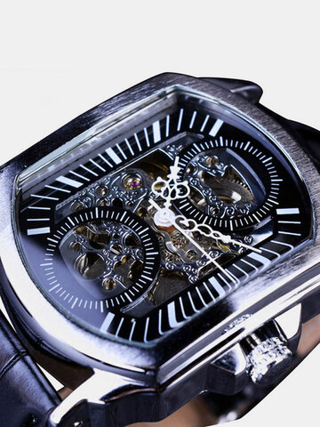 Hollow Leather Mechanical Watch
