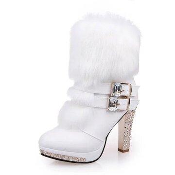 High Heel Bling Boots