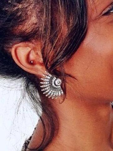 Bohemian Fan Shaped Earrings