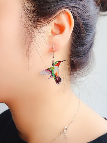 Acrylic Birds-shape Earrings
