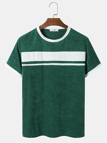 Contrast Panel Towelling T-Shirts