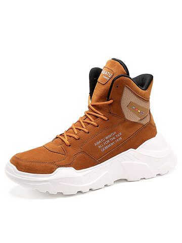 Men Comfy High Top Sneakers
