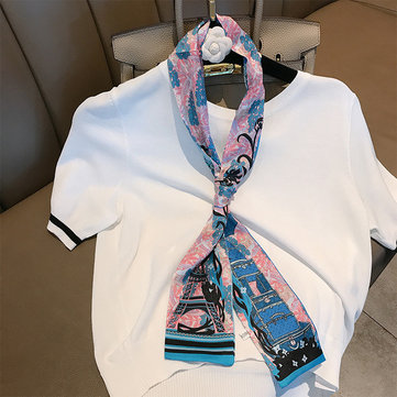 Womens Pattern Breathable Square Scarf