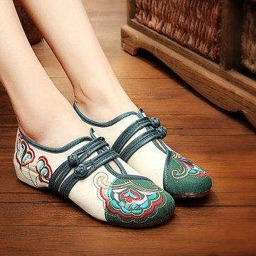 Mary Janes Buckle Casual Flat Loafers