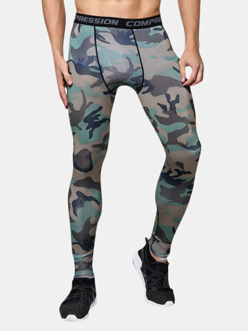 Camo Breathable Training Running Skinny Tights